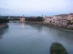 Adige River through Verona