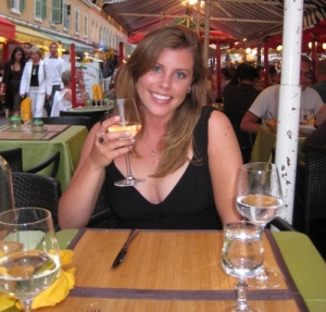 Enjoying a glass of wine in Vieux Nice